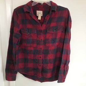Froever21 plaid button up shirt